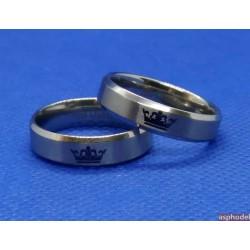 Krásný prstýnek s nápisem His Queen