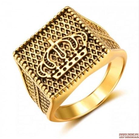 Pánský retro prsten Crown Day