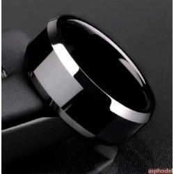Klasický černý prsten Comely