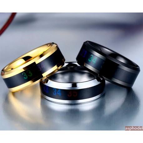 Módní prsten - měřicí teploměr (více barev)