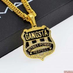 Hip-Hop přívěsek GANGSTA s řetízkem