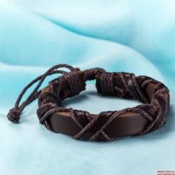 Vázací kožený náramek Viking