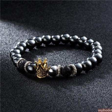 Luxusní náramek s královskou korunou (zlatý)