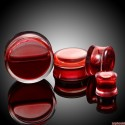Akrylátový plug červená tekutina (14mm)