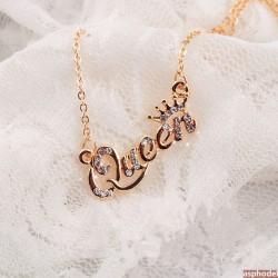 Luxusní náhrdelník Queen (zlatá barva)
