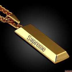 Hip-Hop přívěsek zlatá cihla s řetízkem
