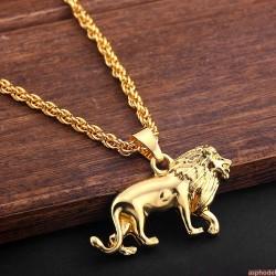 Hip-Hop přívěsek lev s řetízkem