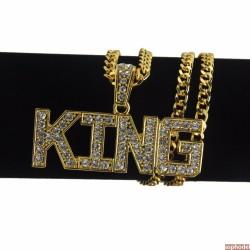 Hip-Hop přívěsek KING s řetízkem